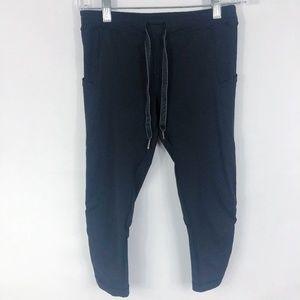 Lululemon | Tie Front Cropped Leggings in Black